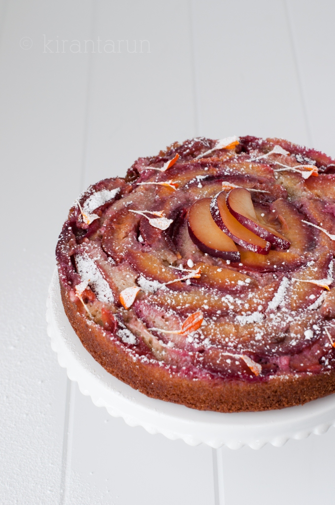 Plum Upside Down Cake With Cake Mix