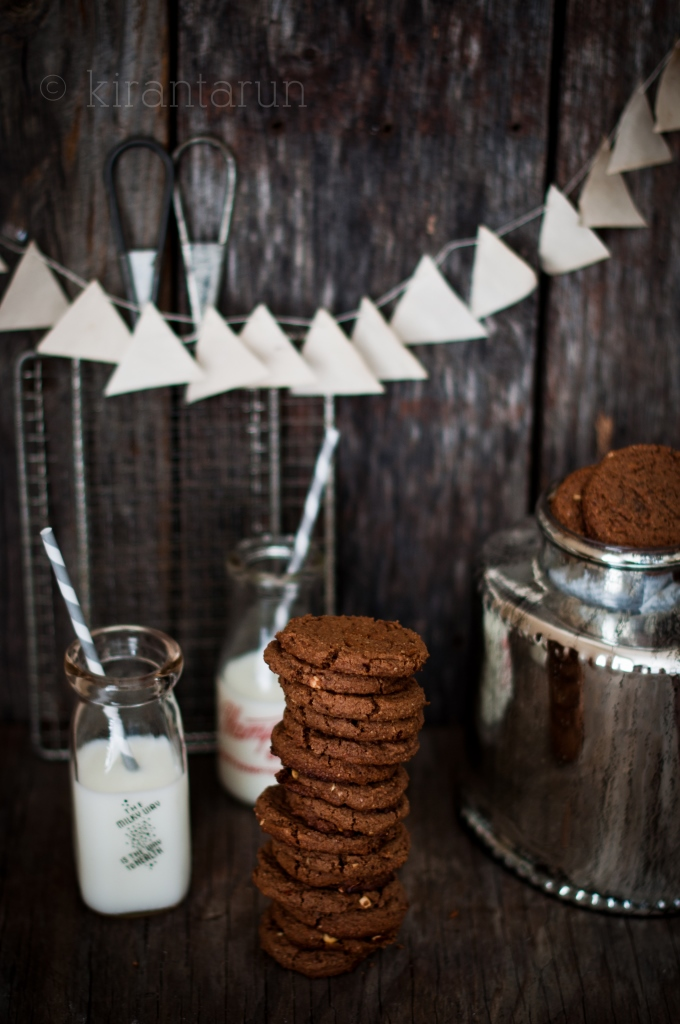 Chocolate Hazelnut Cookies | KiranTarun.com