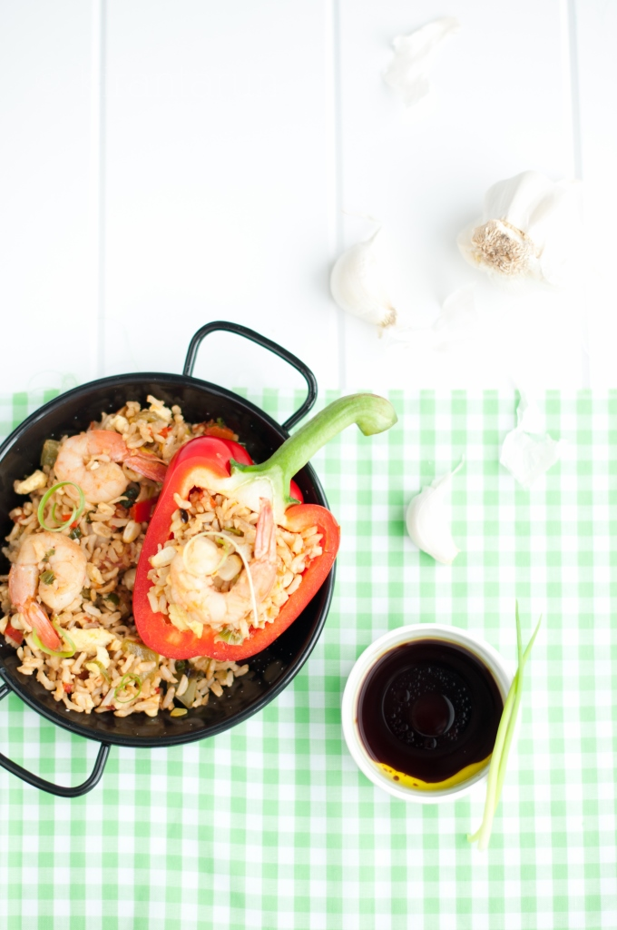 Shrimp Fried Rice | KiranTarun.com/Food