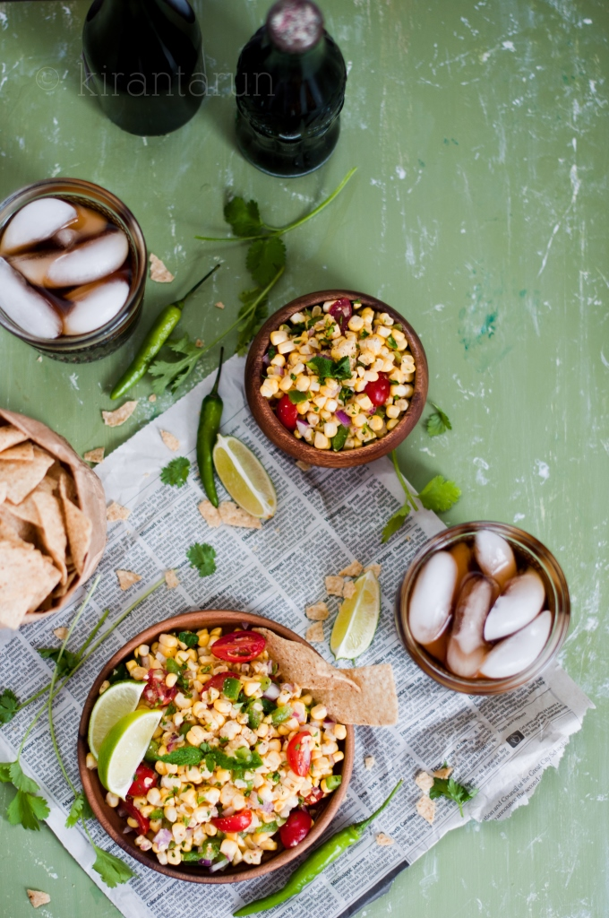 Fresh Summer Corn Salsa | KiranTarun.com/Food