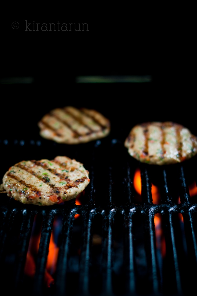 Grilled Lemongrass Chicken Burgers | KiranTarun.com