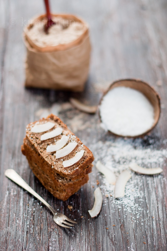 Eggless Banana Coconut Cream Loaf | KiranTarun.com