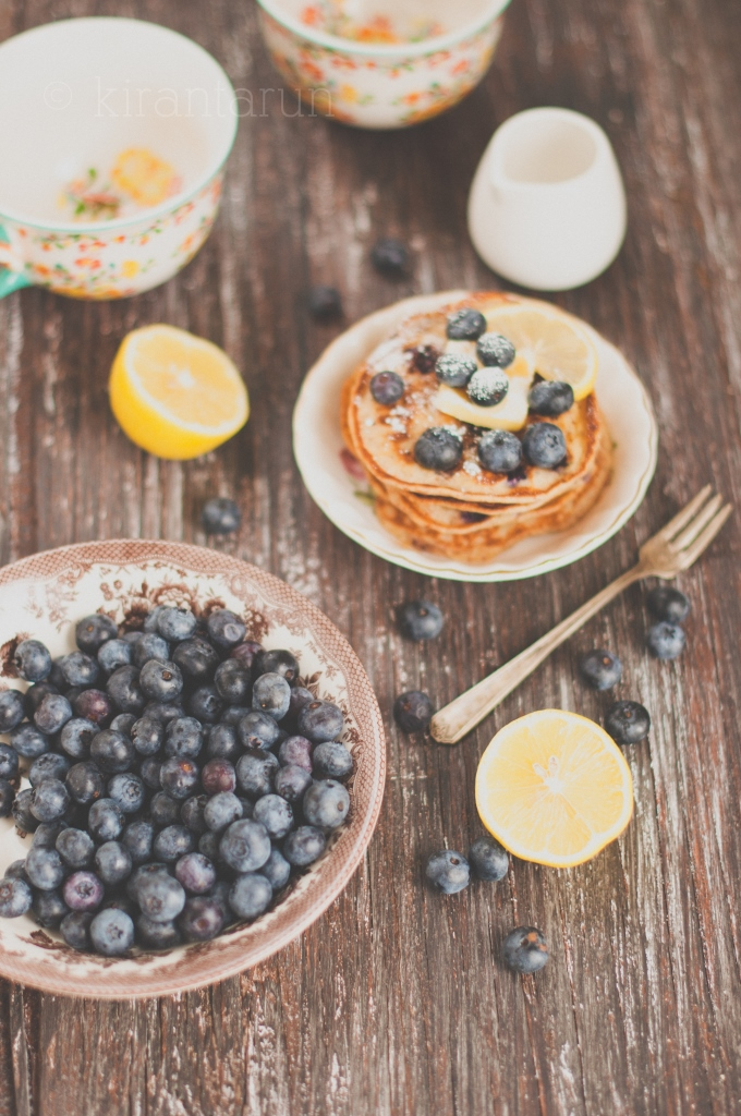 Blueberry Lemon Pancakes | KiranTarun.com