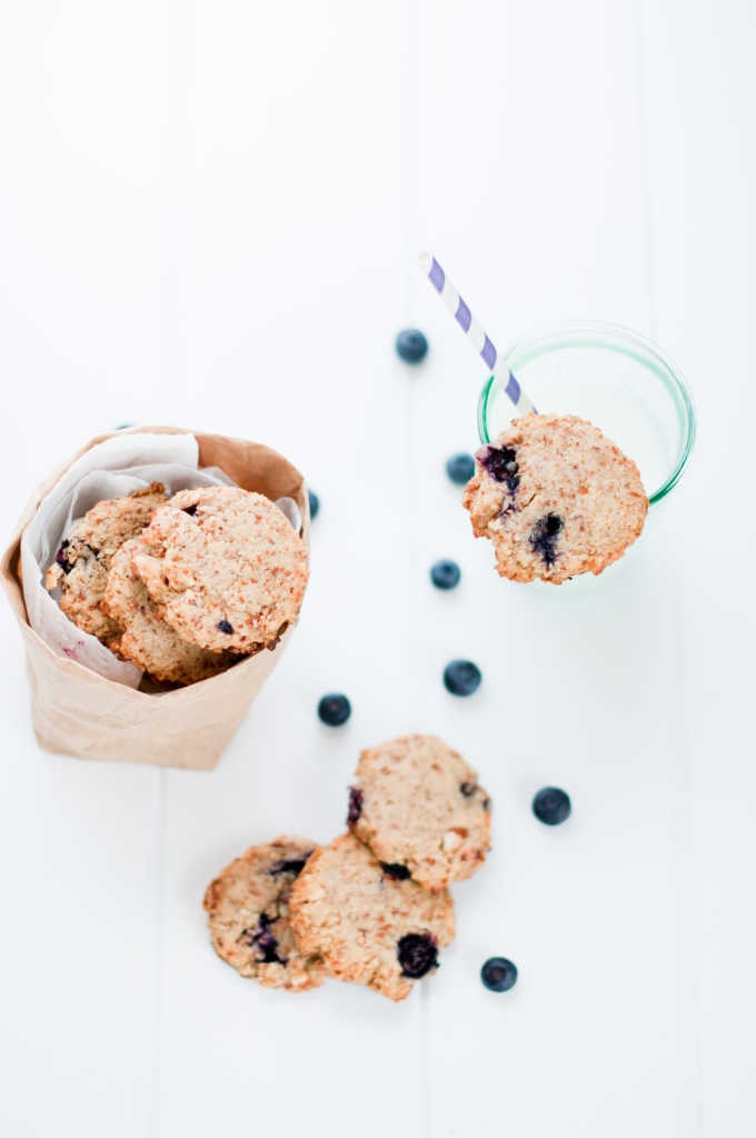 Blueberry Lemon Almond Cookies | KiranTarun.com