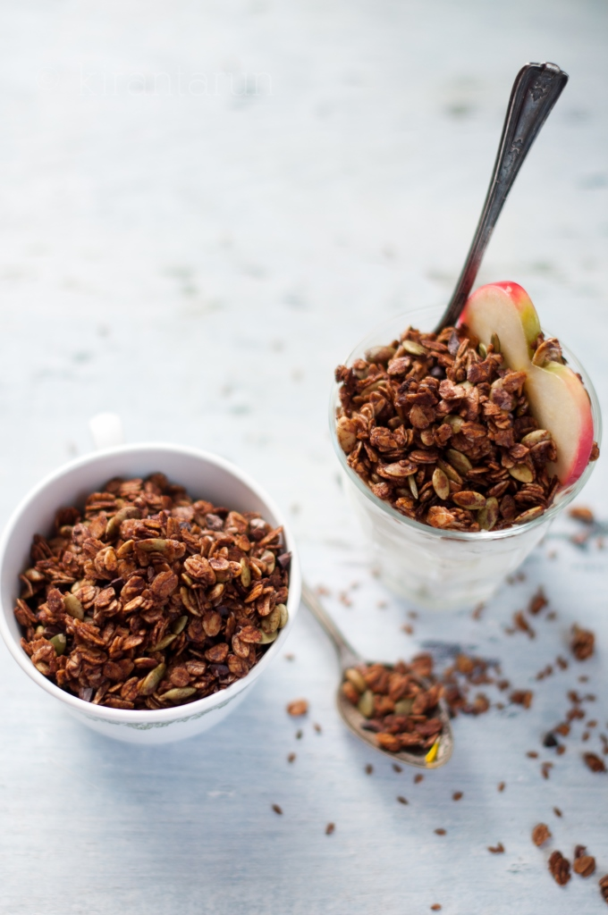 Chocolate Autumn Granola | KiranTarun.com