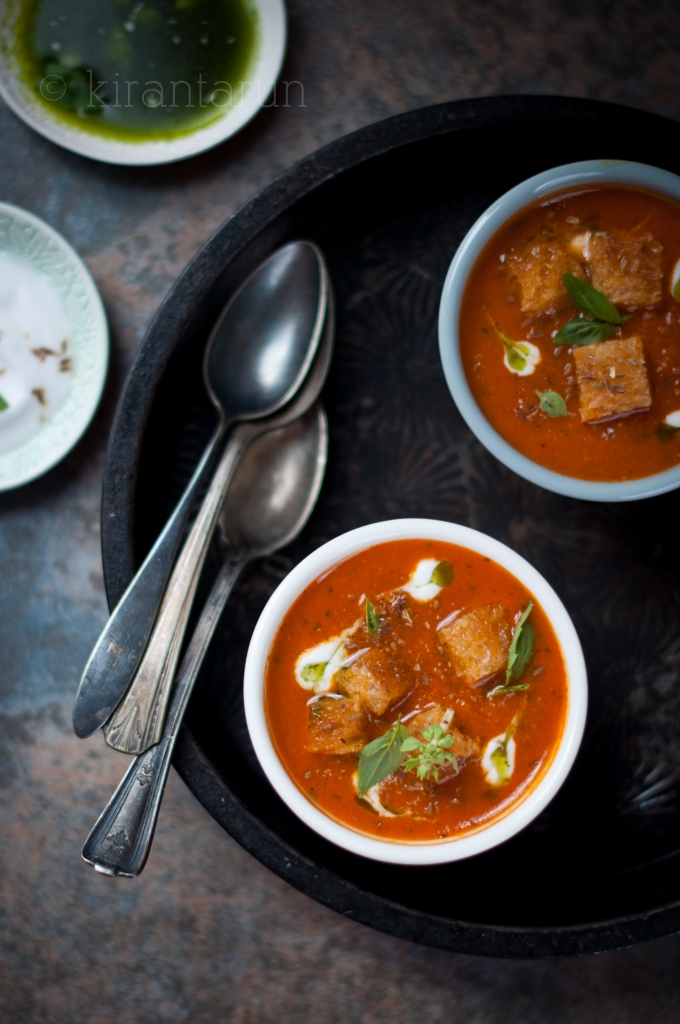 Roasted Spiced Tomato Soup | KiranTarun.com