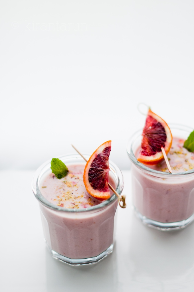 Blood Orange Lassi | KiranTarun.com