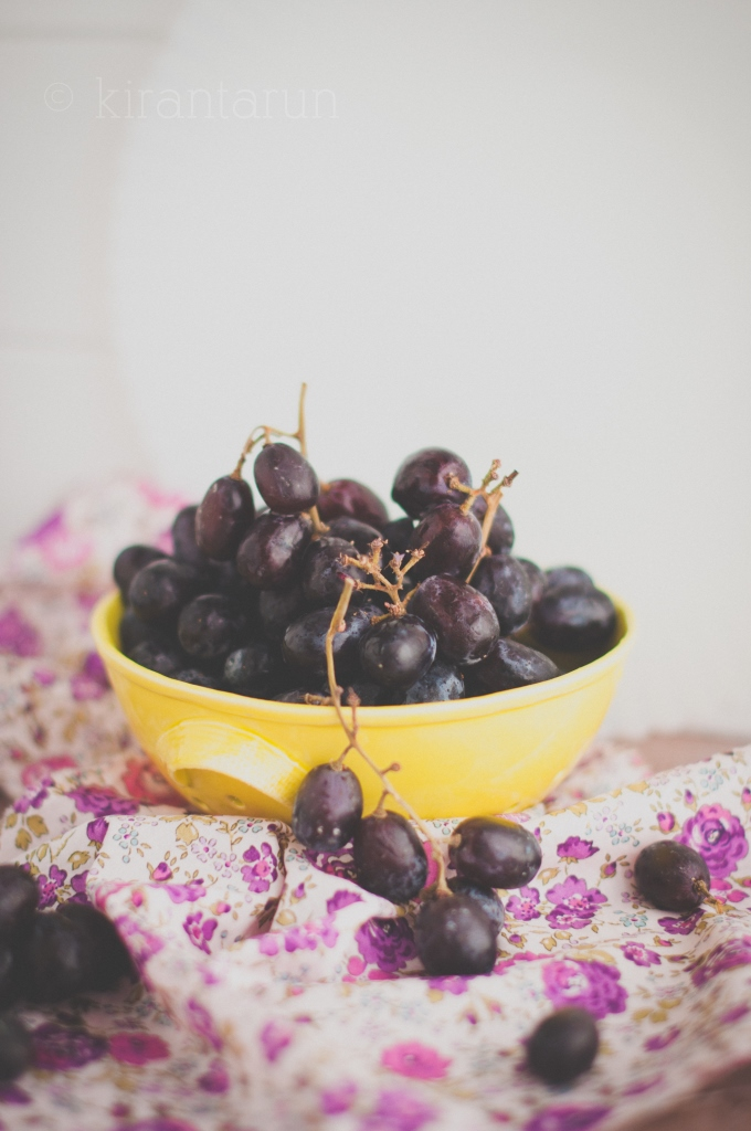 Roasted Balsamic Grapes | KiranTarun.com