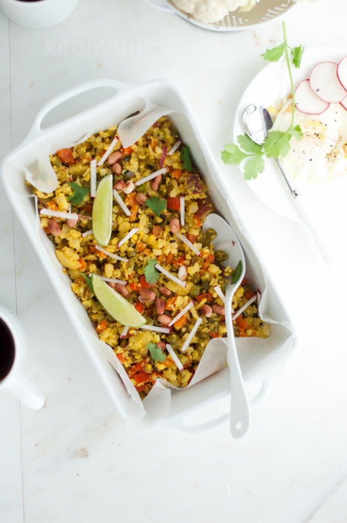 "Spiced Cauliflower ""Fried"" Rice Poha 