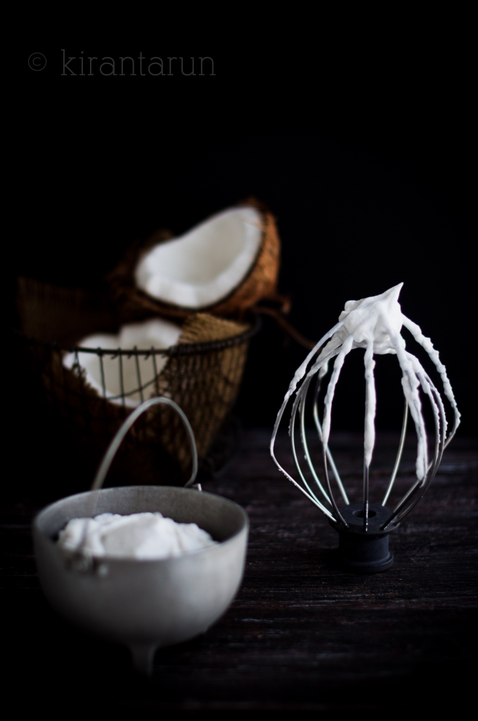 Whipped Coconut Cream | KiranTarun.com/Food