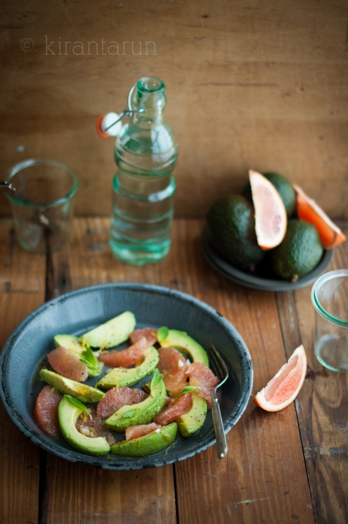 Avocado & Grapefruit Salad | KiranTarun.com/Food