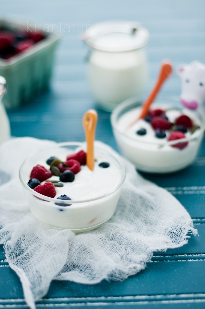 Homemade Yogurt | KiranTarun.com/Food