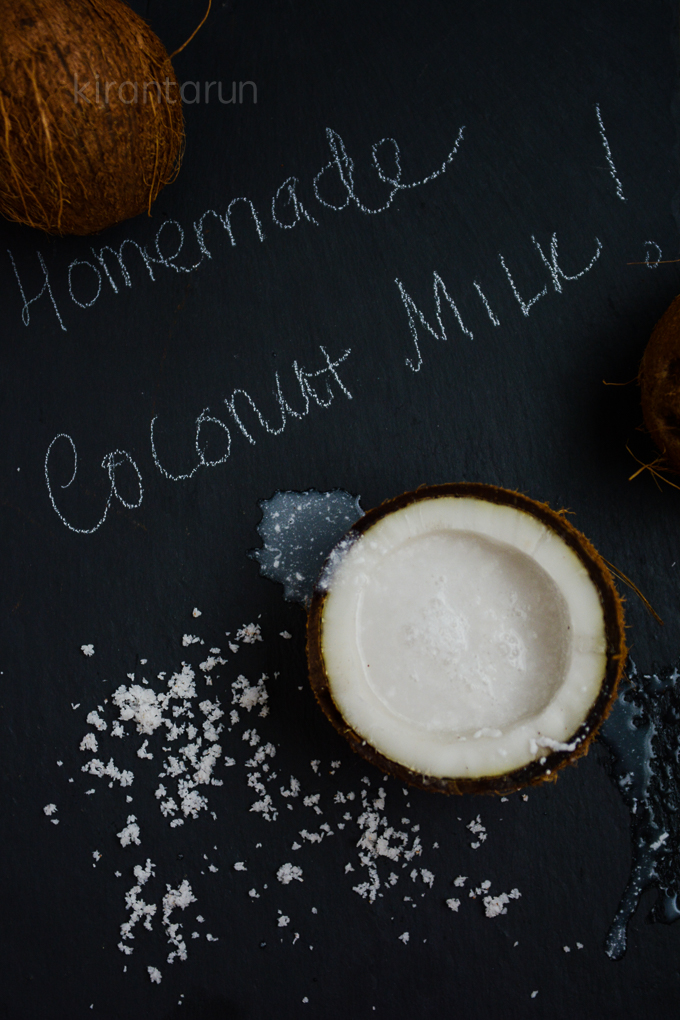 Homemade Coconut Milk | @KiranTarun http://kirantarun.com/food
