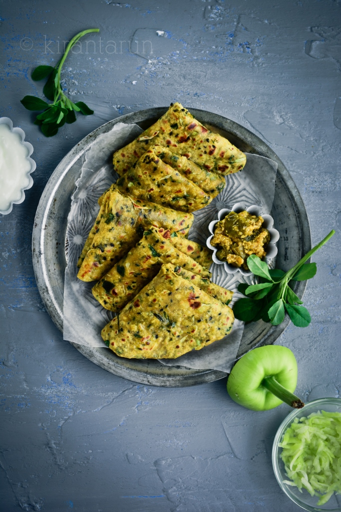 Bottle Gourd & Fenugreek Flatbread | @KiranTarun http://kirantarun.com/food