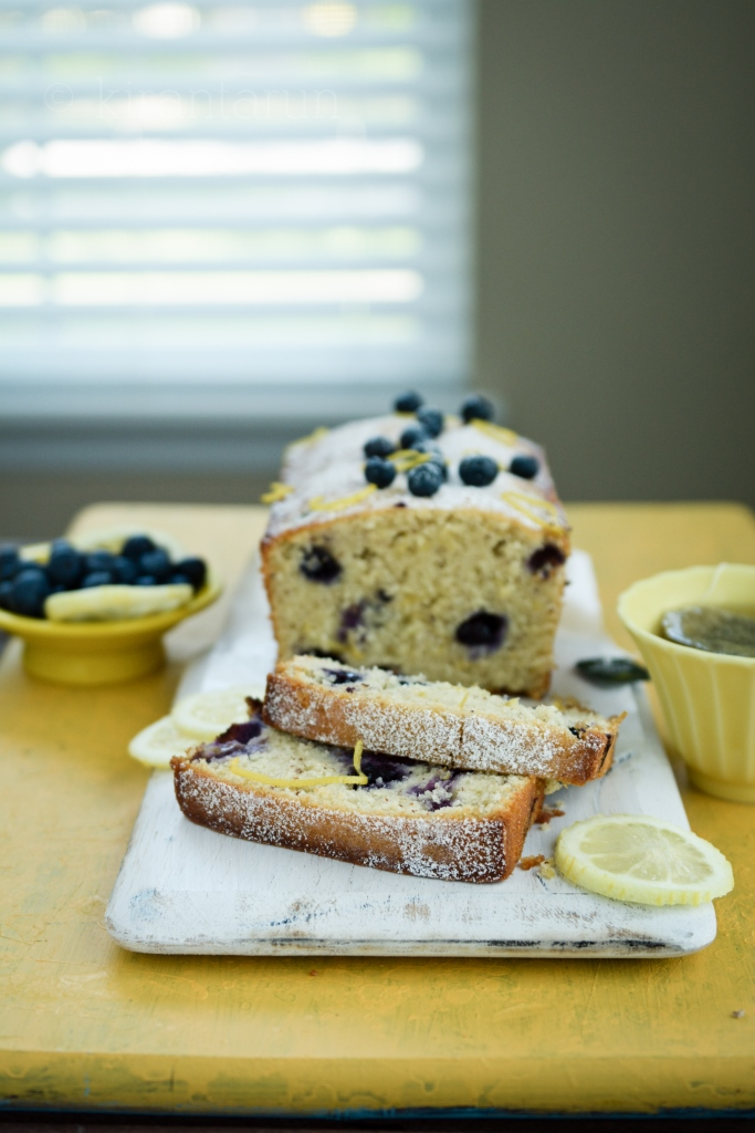 Blueberry Lemon Loaf Cake | @KiranTarun http://kirantarun.com/food