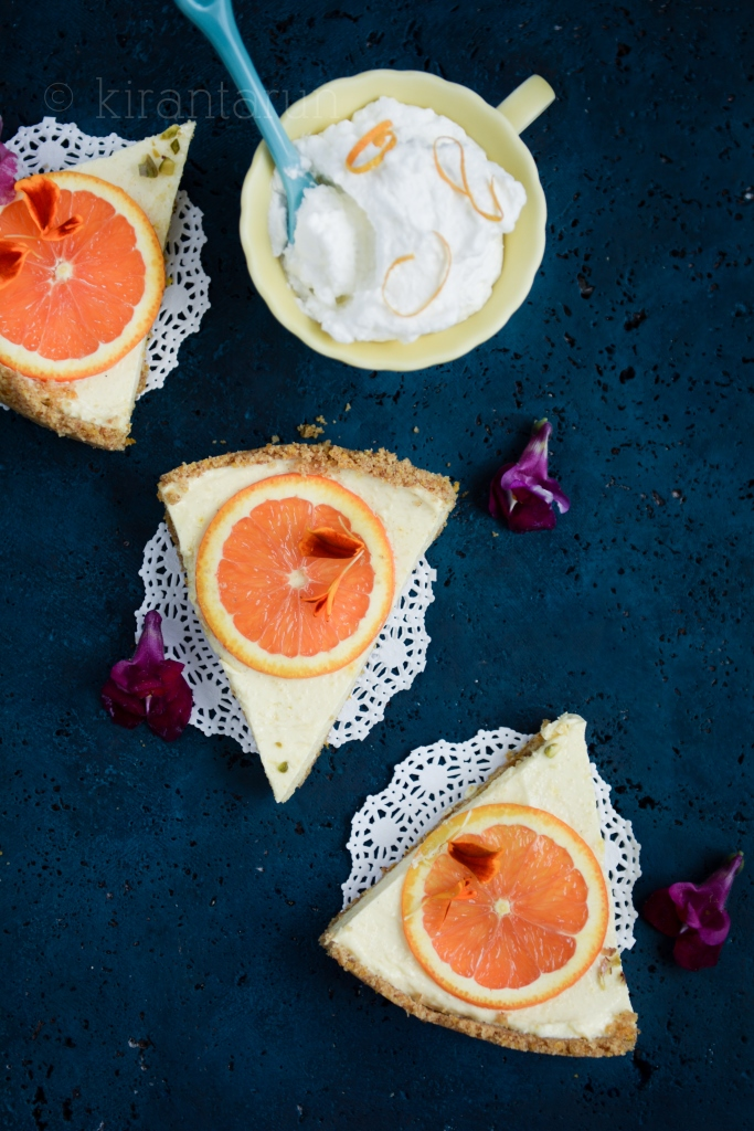Orange Shrikhand Tart | @KiranTarun http://kirantarun.com/food