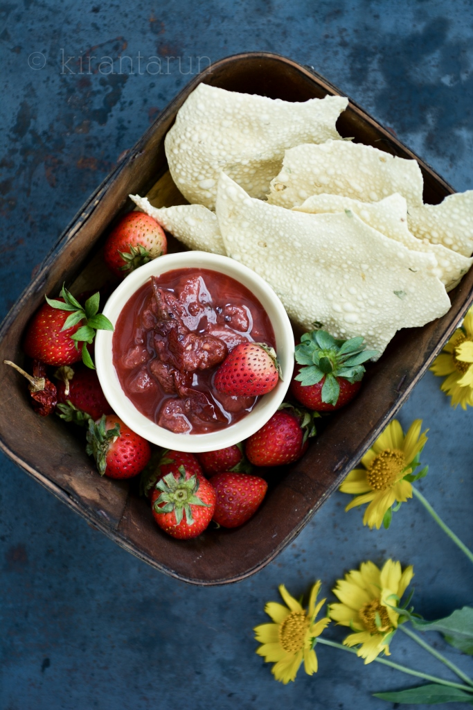 Spiced Strawberry Chutney | @KiranTarun http://kirantarun.com/food
